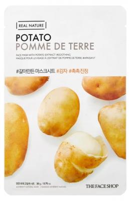 Маска с экстрактом картофеля THE FACE SHOP Real nature mask sheet snow potato 20мл: фото