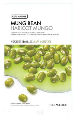 Маска с экстрактом бобов маш THE FACE SHOP Real nature mask sheet mung bean 20мл: фото