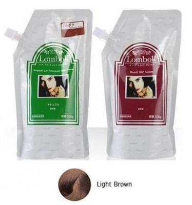 Система для ламинирования волос Gain Cosmetic Lombok Original set Light Brown 2*500г: фото