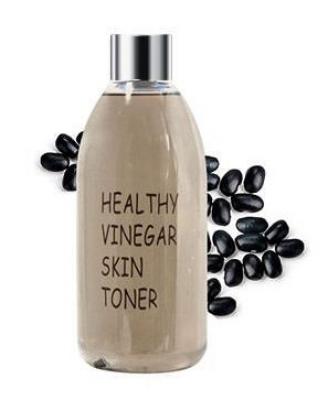 Тонер для лица СОЕВЫЕ БОБЫ REALSKIN Healthy vinegar skin toner Black bean 300мл: фото