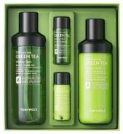 Набор Tony Moly The Chok Chok Green Tea Watery Skin Care Set 180мл,160мл,20мл,20мл: фото