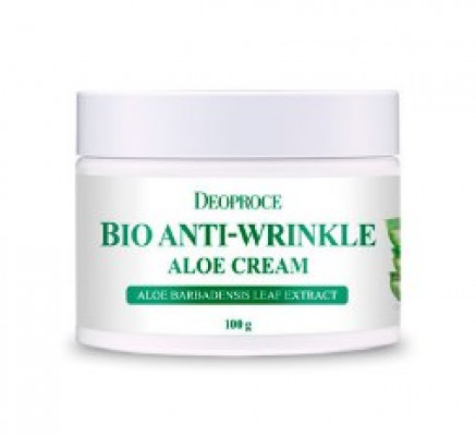 Крем для лица с Алоэ DEORPOCE BIO ANTI-WRINKLE ALOE CREAM 100г: фото