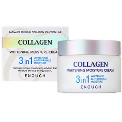 Крем осветляющий 3в1 с коллагеном ENOUGH Collagen Whitening Moisture Cream 3in1 50мл: фото