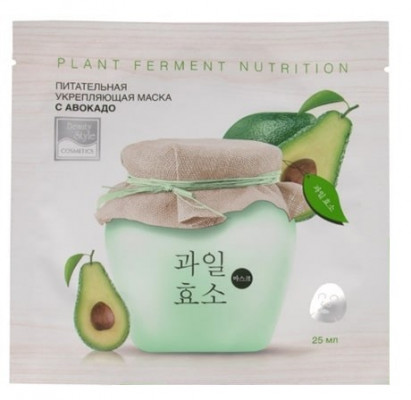 Питательная укрепляющая тканевая маска с авокадо Plant Ferment Nutrition 25мл Beauty Style: фото