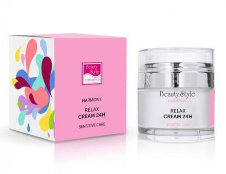 Крем Релакс 24 для чувствительной кожи с гиалуроновой кислотой Beauty Style Harmony 30мл: фото