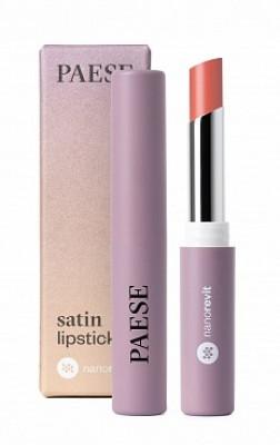 Помада атласная PAESE SATIN LIPSTICK NANOREVIT 21 Soft Peach: фото