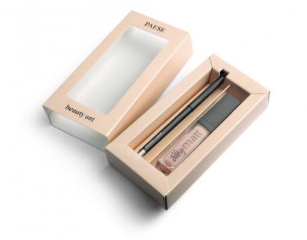 Набор для макияжа Paese OSLO LOOK beauty set: жидкая помада + карандаш для глаз: фото
